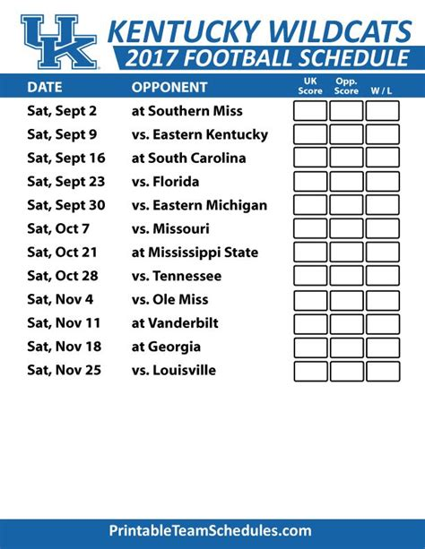 printable uk schedule 15 best images about sec football college team schedules