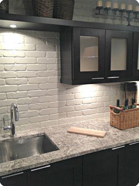 painted brick backsplash possible faux brick panels wood for kitchen backsplash faux ideas painted brick in