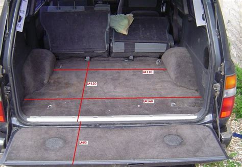 Toyota Land Cruiser Interior Dimensions by Boot Trunk Dimensions Ih8mud Forum