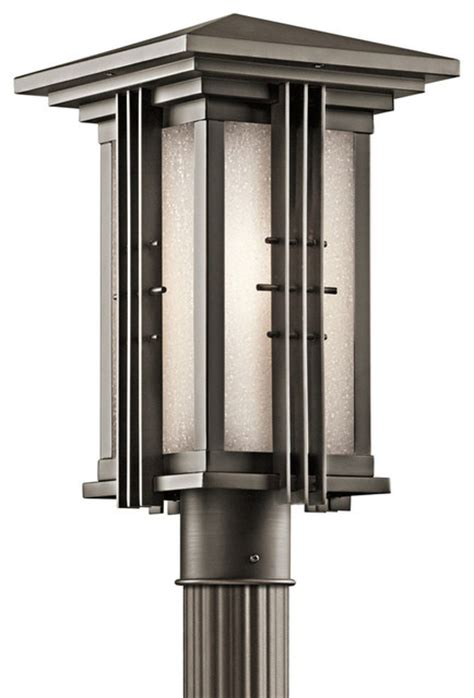 Contemporary Outdoor Post Lighting Kichler 1 Light Outdoor Fixture Olde Bronze Exterior Contemporary L Posts By Whitmer