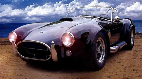 shelby ac cobra vintage car   beach hd wallpaper