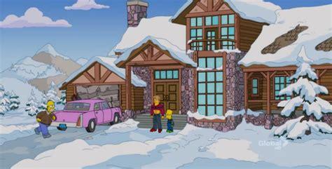 ski house mav s and portia s ski house simpsons wiki
