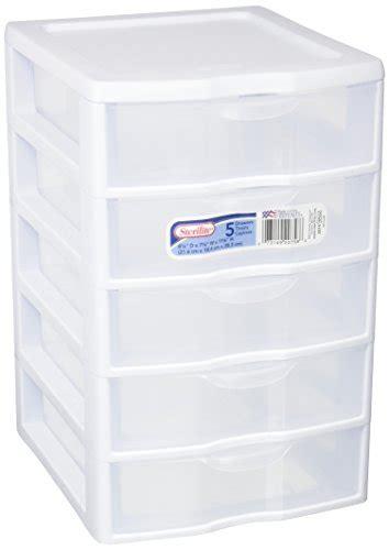 sterilite small modular drawer system sterilite 2075 5 drawer storage unit 8 1 2 x 7 1 4 x 11 1