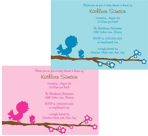 Baby Shower Bird Theme Invitations by Baby Bird Baby Shower Invitation