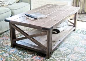 Rustic Coffee Table Designs White Rustic X Coffee Table Diy Projects