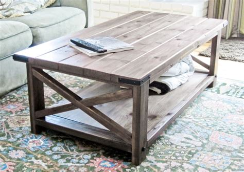 coffee table construction plans white rustic x coffee table diy projects
