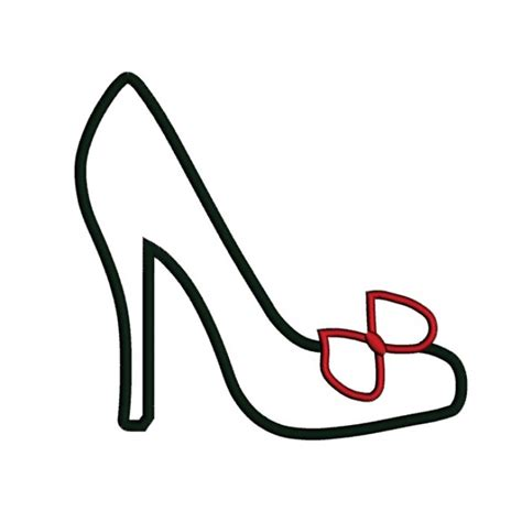 high heel shoe template high heel shoe outline clipart www imgkid the