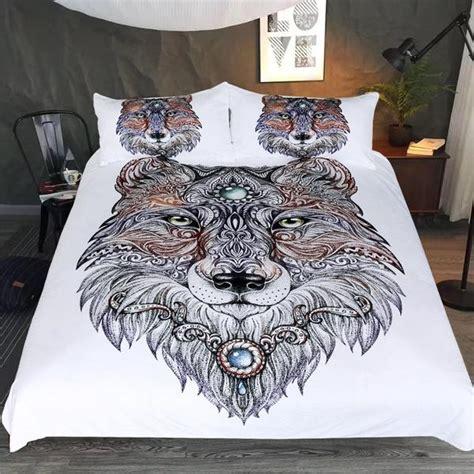 tattoo bedding queen tribal wolf art bedding set wolvestuff