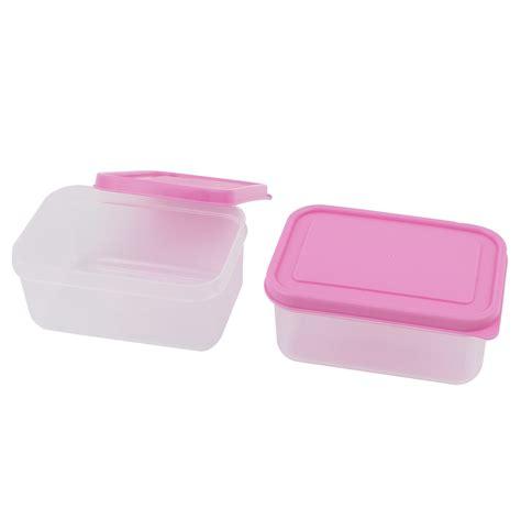 unique bargains pcs ml pink lid clear pp vacuum bento