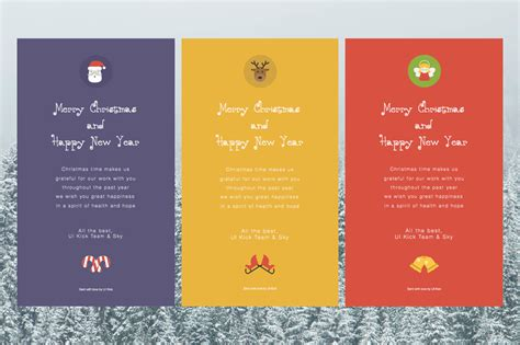 Christmas Email Ecard Html Designs Email Templates On Creative Market Card Email Template