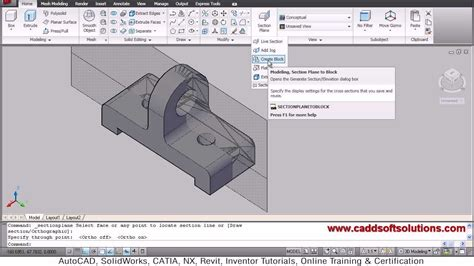 how to use layout view in autocad autocad 3d section plane tutorial youtube