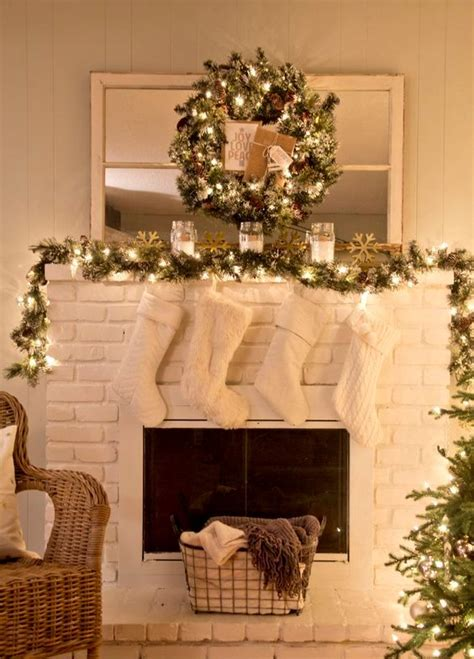 lighted garland for mantle 25 ultimate christmas mantel d 233 cor ideas shelterness