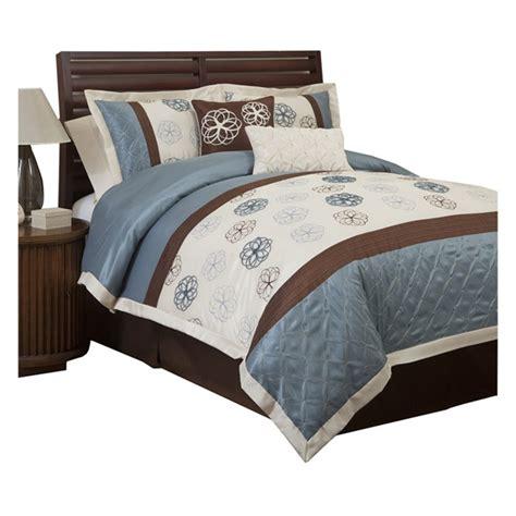blue brown comforter set covina 6 piece comforter set in blue brown blue and