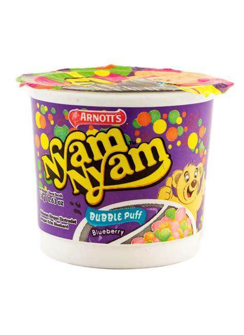 Nyam Nyam Puff Choco 18gr arnott s biscuit nyam nyam puff blueberry cup 18g
