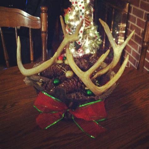 deer antler christmas centerpiece christmas centerpieces