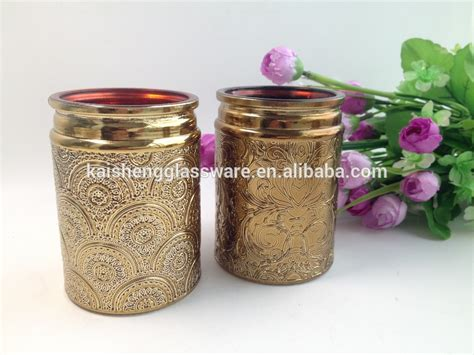 Candle Jars Wholesale Wholesale Embossed Copper Candle Jars With Gold Metal Lid