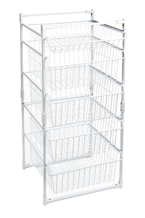 storex 5 tier wardrobe basket system at mighty ape