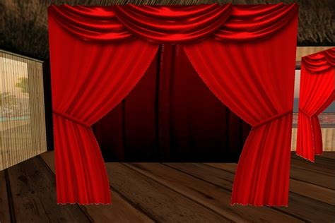 one sided drapes second life marketplace red curtains fatpack
