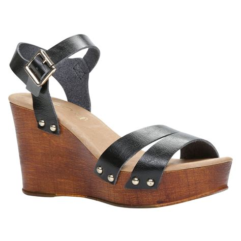 aldo eowowia wedge sandals in black lyst