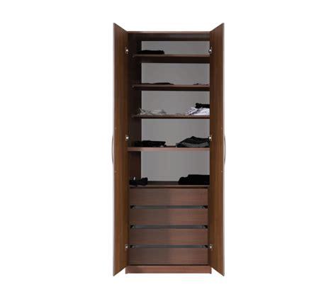 Sliding Closet Shelves by Designer Wardrobe Closet W 2 Doors 4 Shelves And 4