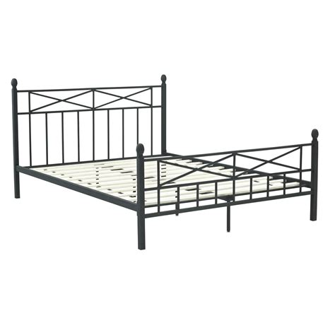 black full size bed frame full size matte black metal platform bed frame w headboard
