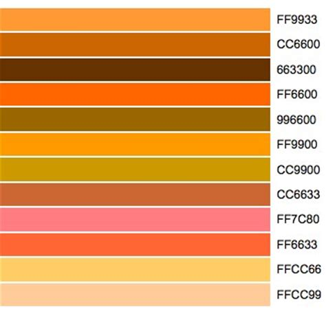 shades of orange color chart orange colour chart www pixshark com images galleries