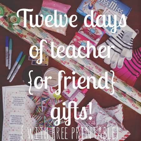 12 days of christmas gifts for teachers bit funky 12 days of edition with a twist for friends as well