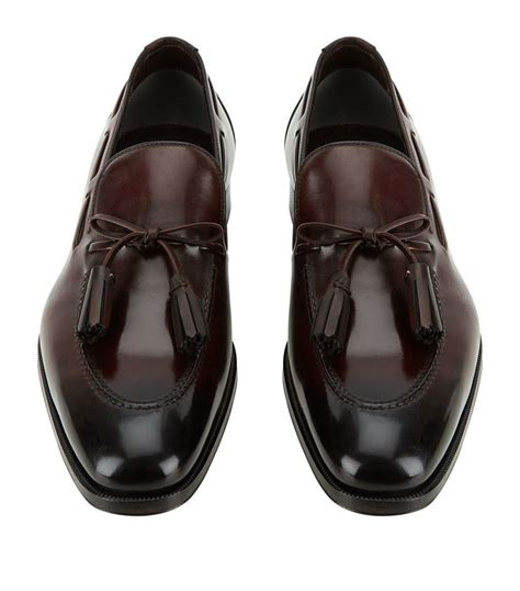 tom ford mens loafers tom ford leather tassel loafer in brown for lyst