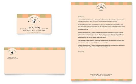business cards letterhead templates catering company business card letterhead template design