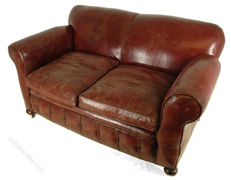 Red Leather Club Sofa C1930 Antiques Atlas