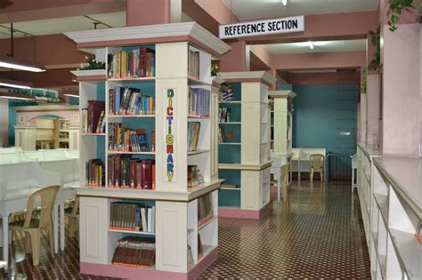 reference section in library santa isabel college manila