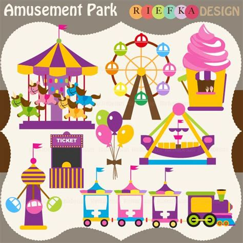 theme park clipart amusement park clipart theme park pencil and in color
