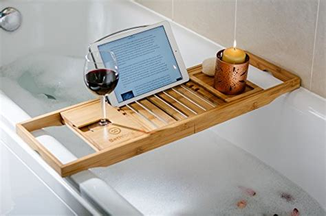 bathtub laptop holder bathforia bathtub caddy bamboo bathtub caddy puts the