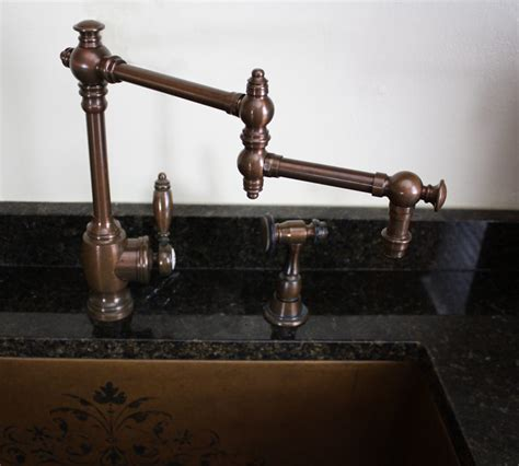 copper kitchen sink faucets what faucet goes with a copper sink nomadic decorator