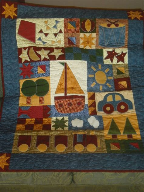Boys Patchwork Quilts - quilt design toys for boys quilt by hatched and patched