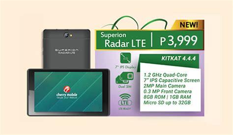 I Cherry C251 New 4g Lte 1 8 Garansi Resmi cherry mobile superion radar lte 4g tablet now available for 3 999 official srp