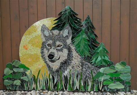 mosaic wolf pattern the lone wolf delphi artist gallery