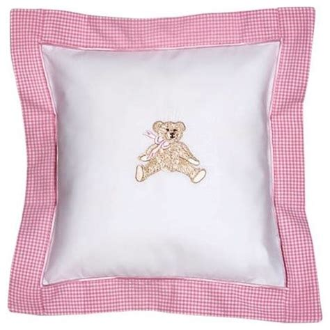 Pillowcase For Baby Pillow by Pink Bow Teddy Baby Pillow Traditional Bedding