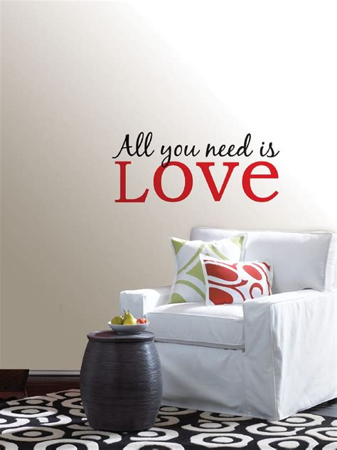 all wall stickers all you need is quote wall sticker