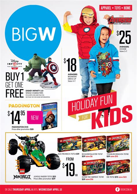big w catalogue holiday 9 april 2015