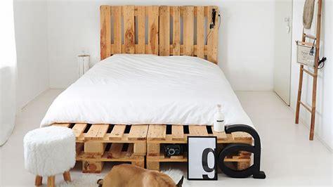 lit palettes diy fabriquer un lit en palette de bois cuboak