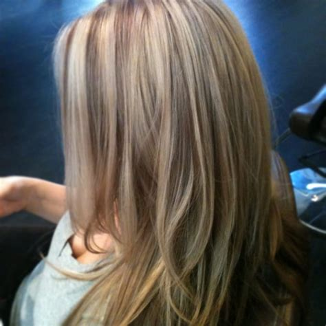 beige ash blonde with highlights beige highlights with warm brown lowlights allows for