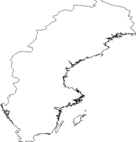coloring page map of sweden blank outline map of sweden