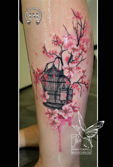 watercolor tattoo münchen best 25 cherry blossom tattoos ideas on