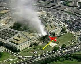 The plane must have begun exploding outside the pentagon wall