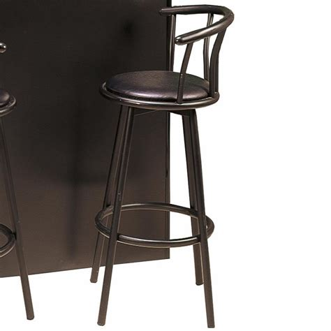 bar stools black leather coaster 2398 black leather bar stool steal a sofa
