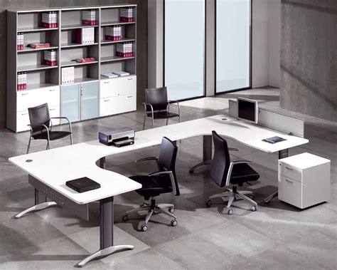 White Office Desk Furniture White Office Furniture For Clean And Modern Atmosphere Office Architect