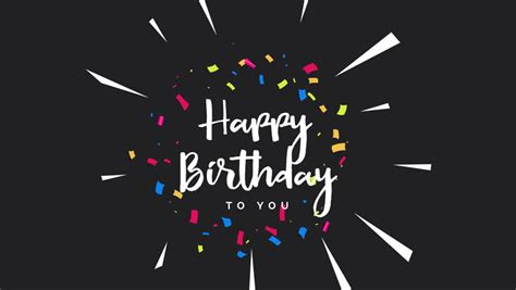 happy birthday greeting card animation stock footage video  royalty