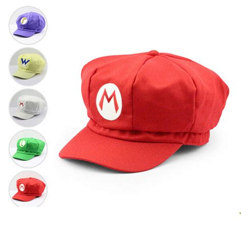 mario plush toys cotton caps mario luigi wario