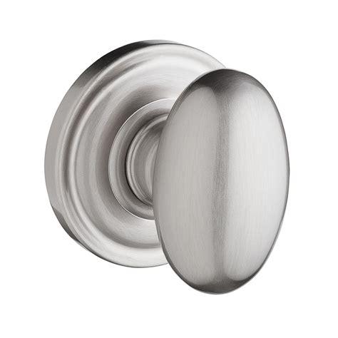 shop baldwin reserve ellipse satin nickel dummy door knob
